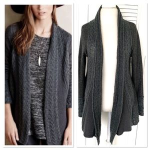 Anthro Knitted & Knotted Wool Blend Cardigan